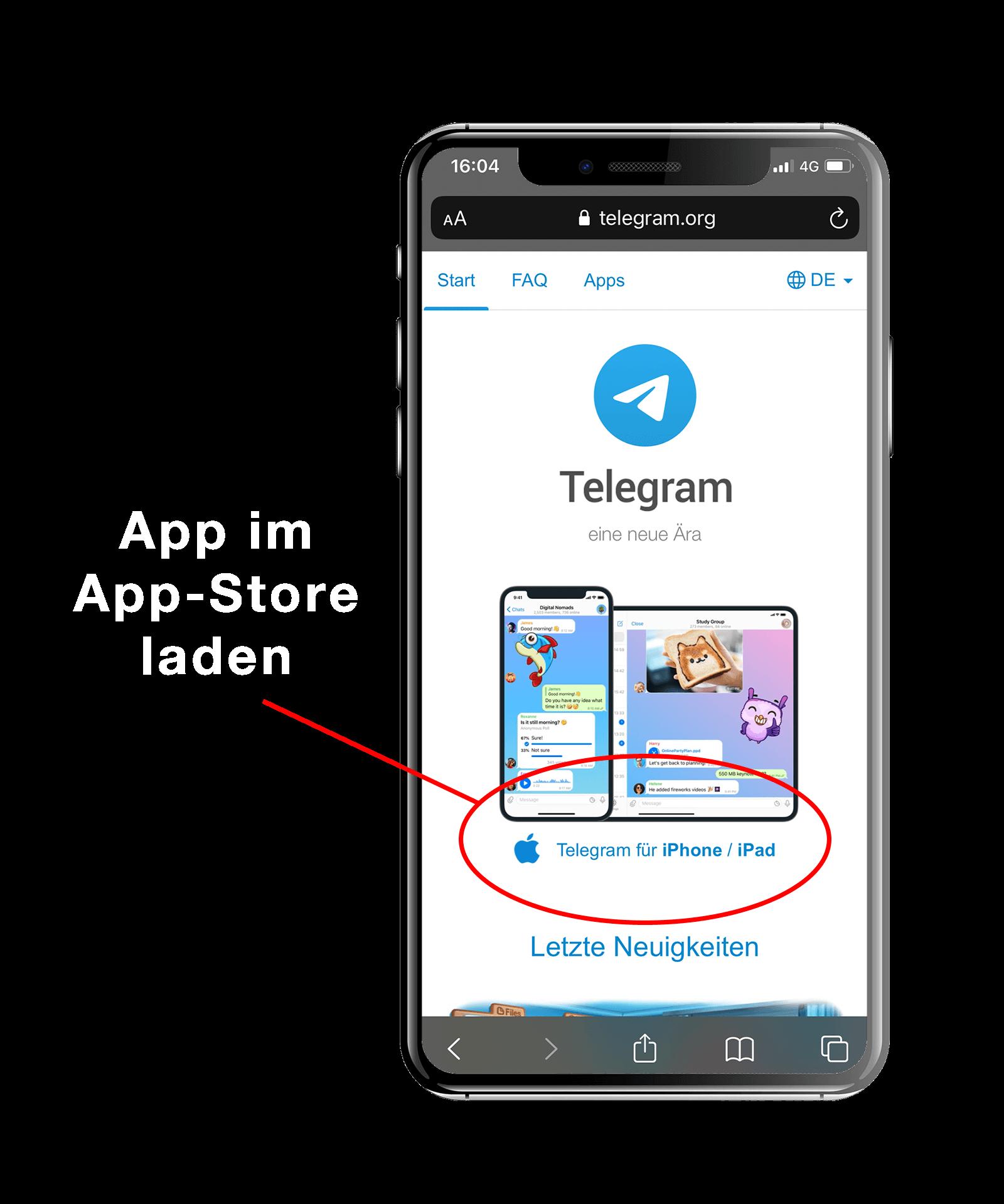 Zugang Telegram