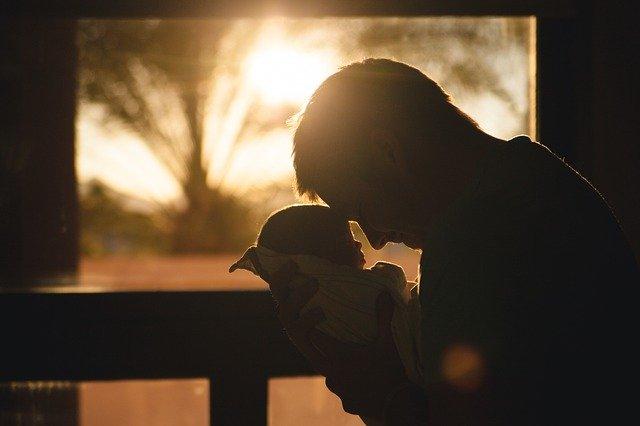 Vater und Baby Männer